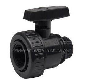 PVC Single Union Ball Valve F*M-BSPT Standard pictures & photos
