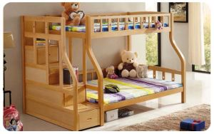 Nice Style Solid Wood Kids Bunk Bed with Ladder Ark (M-X1108) pictures & photos