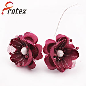 Hot Sale Beautiful Wine Color Artificial Flower for Decoration pictures & photos