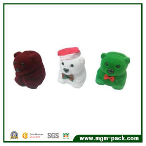 Colorful Bear Shape Earring Storage Plastic Jewelry Box pictures & photos