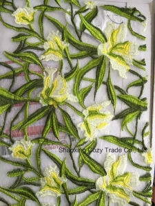 New Style 100%Polyester Water Dissolving Embroidery for Fashion Dressing Garments pictures & photos