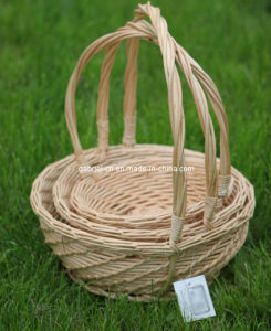 3PCS Willow Basket with Handle (WBS001)