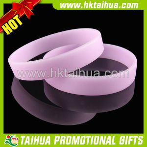 Promotion Blank Silicone Bracelet with Custom Logo (TH-band049) pictures & photos