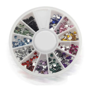 Cheapest Square Shape Stone Nail Decoration with Wheel Package pictures & photos