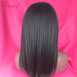 8A Grade Kinky Straight Lace Front Human Hair Wig for Black Woman pictures & photos