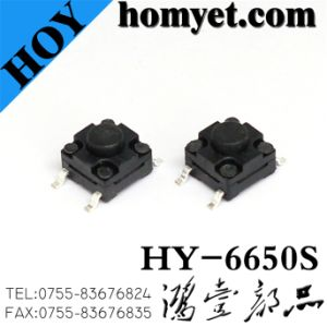Manufacturer 6*6mm SMD Waterproof Tact Switch with 4 Feets (HY-6650S) pictures & photos