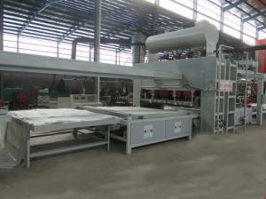 Particle Board/ MDF Short Cycle Melamine Hot Press Double Side Machine pictures & photos