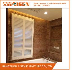 Pretty High Quality Wooden Shutters Wood Plantation Shutter pictures & photos