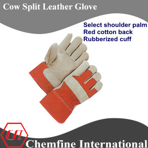 Select Shoulder Palm, Red Cotton Back, Rubberized Cuff Leather Work Gloves pictures & photos