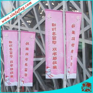 Digital Printing Polyester Flags on Lamp-Post pictures & photos
