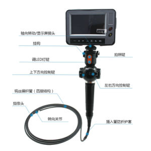 6.0mm Industrial Video Borescope with 2-Way Articulation, 3m Testing Cable pictures & photos