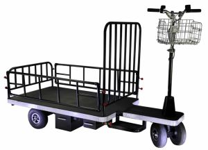 Motorized Warehouse Cart (DH-PS1-C8 Half Fence Light Duty, Curtis Controller, 500W Motor)