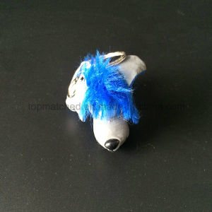 Cute Blue Hair Plush Stuffed Dog Reflective Promotion Toy pictures & photos