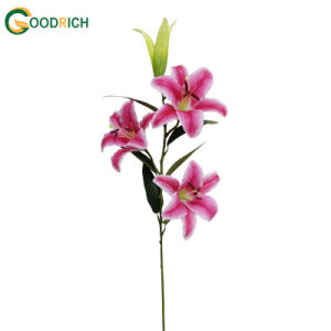 Lily Artificial Flower with 3 Heads and 1bud pictures & photos