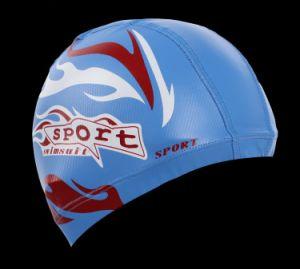 Adult Size Lycra Swim Cap with PU Coat Swim Hat pictures & photos