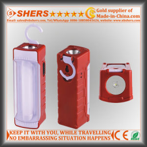 Rechargeable 12 LED Emergency Light with 1W LED Flashlight (SH-1901) pictures & photos