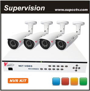 Supervision CCTV 9CH H. 264 720p Network NVR 4PCS 1.0MP HD Outdoor/Indoor IP Network Camera IP NVR System (SV-N5004-C)