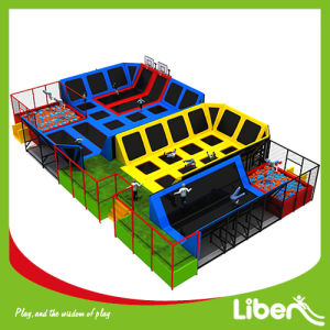 Wonderful Indoor Trampoline Park with Aritificial Grass Floor pictures & photos