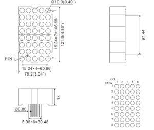 4.6 Inch 5X8 Single Color LED DOT Matrix pictures & photos