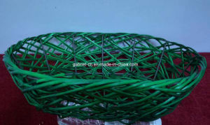 Green Wicker Tray (dB026)
