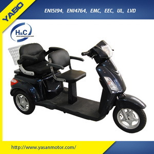 800W Two Seat Electric Scooter, Mobility Scooter, Electric Tricycle Scooter