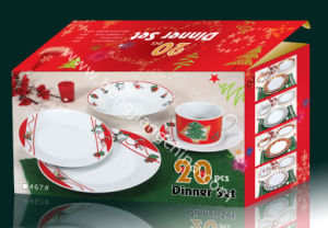 20PCS Dinner Set with Christmas Design (HJ10000) pictures & photos
