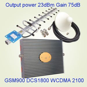 Tri Band 900&1800&3G/2100MHz 17dB GSM Dcs Mobile Signal Booster GSM Repeater
