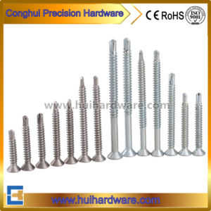 Philips Flat Head Window Screw Contersunk/Csk Head Self Drilling Screws pictures & photos