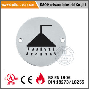 Round Type Stainless Steel Sign Plate for Doors pictures & photos
