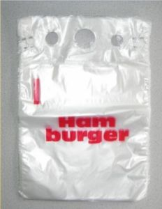 HDPE Plastic Bread Bag Burger Bag Saddle Bag