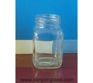 300ml Square Glass Jar