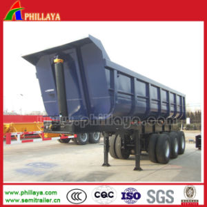 U Shaped Box Hydraulic Tipping Truck Semi Dump Trailer pictures & photos
