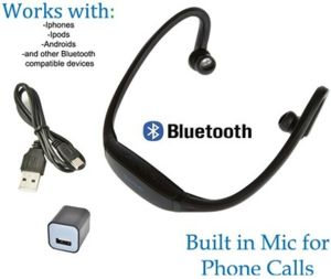 Wireless Sports Bluetooth Headphone for iPhone Galaxy iPod Mic pictures & photos