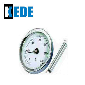 Bimetal Thermometer for Pipe with Spring