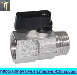 Nickel Plated Brass Mini Ball Valve (a. 0128) pictures & photos
