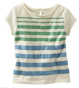 Striped Top Girl′s Shirt Kid′s T-Shirt Tops G28
