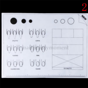 Silicone Nail Art Practice Table Mat Stamping Manicure Tool (M32) pictures & photos