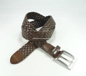 Classic Men′s Leather Webbing Leather Belt (EU2604-35) pictures & photos