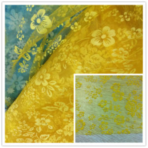 Flower Printed Organza, Wedding Organza, Garment Organza. pictures & photos
