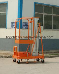 New Design! Hydraulic Single Mast Aluminium Aerial Work Platform pictures & photos