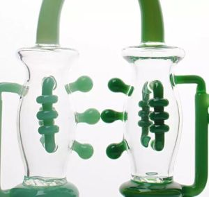 2017 New Hand Craft Beautiful Green Curved Glass Pipe Water Pipe Glass Water Pipe Oil Rig pictures & photos