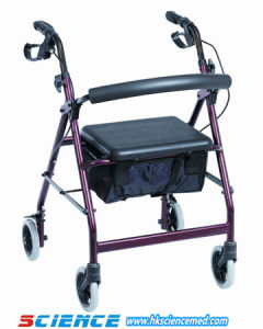 Aluminum Walking Aid Rollator Disabled People Rollator (Sc-Rl02 (A3)) pictures & photos