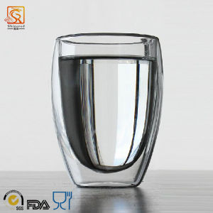 350ml Egg-Shaped Double Wall Glass Cup pictures & photos