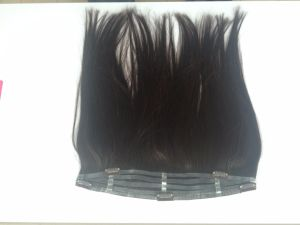Double Drown Human Hair Clip in Hair Extensions pictures & photos