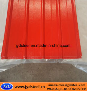Embossed PPGI Steel Trapezoid Roof Sheet pictures & photos