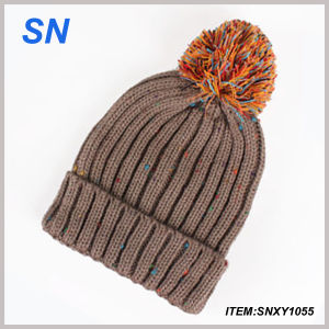 Wholesale Acrylic Custom Design Woven Beanie Knitted Hat pictures & photos