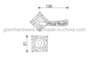 Zinc Alloy Door Handle on Rose - 552 pictures & photos