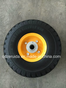 Diamond Pattern PU Flat-Free Foaming Wheel pictures & photos