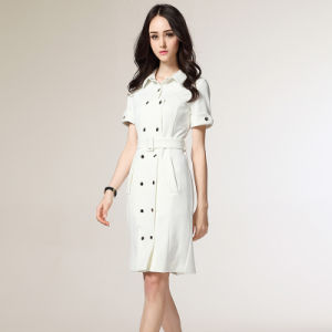 New Fashion Ol Women Ladies Office Dress Clothes Slim White Formal Dress pictures & photos