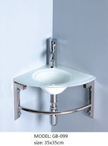 Transparent Glass Wash Basin with Bathroom Accessories pictures & photos